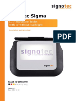 Data Sheet Signotec Lcd Signature Pad Sigma En