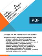 Presentation on Relationship Between Communication and Journalism