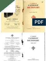 A Simple Catholic Dictionary
