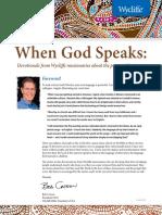 Devotional When God Speaks