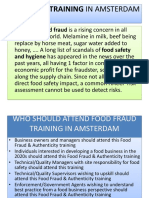 Food Fraud Training in AMSTERDAM
