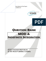 Question bank MOD and Indefinite integration