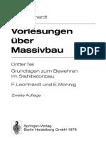 Vorlesungen Über Massivbau_ Dritter Teil Grundlagen Zum Bewehren Im Stahlbetonbau (1976, Springer Berlin Heidelberg)