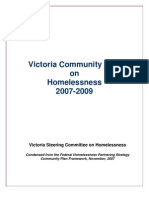Condensed Victoria Community Plan on Homelessness 2007-2009