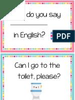 Classroom Language Posters