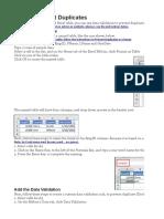 Data Validation Example