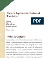 Cultural Equivalence Allusion