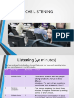 CAE Listening General Tips and Part One