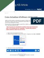 KB Como Actualizar El Software Del SL2100 (ESP) LA