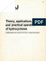 Theory, Applications, And Practical Operation of Hydrocyclones