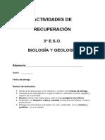 Actividades de Recuperacion BiologiayGeologia 3oESO 1