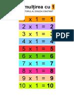 Tabla Înmulțirii Factorul 2 Constant 11 Pagini