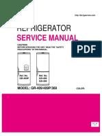 Service Manual На Холодильник LG GR-409