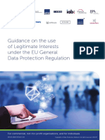 Data Protection Network - Guidance on the Use of Legitimate Interest