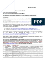 DCA Letter to BCEC - Nov 13 2010,  from DotConnectAfrica