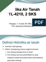 Geohidrologi TL 01 Pendahuluan