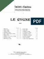 Saint-Saens Le Cygne Piano 4 Hands
