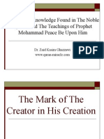 The Mark of The Creator in Creation