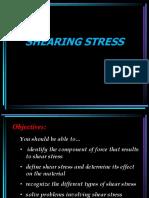 Lesson 2 - Shearing Stress