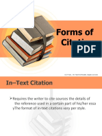 Forms of Citation (1) Rench