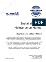 Hyundai Installation and Maintenance Manual