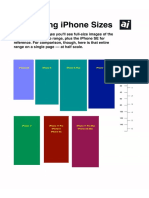 AppleInsider 2019 iPhone Size Comparison 2019