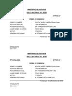 COMISION PAPELETAS PNP