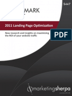 MarketingSherpa 2011 Landing Page Optimization Benchmark Report