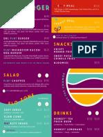 PLNT Burger menu