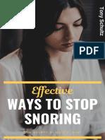 Effective Ways to Stop Snoring