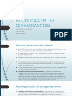 Pxicoloxia de Lxs Organizacionzs