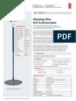 Vibrating Wire Soil Extensometer EXB0011K