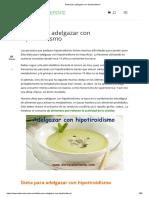 Dieta Para Adelgazar Con Hipotiroidismo