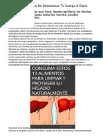 11 Formas Sencillas De Desintoxicar Tu Cuerpo A Diario
