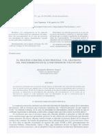 El proceso como relacion procesal y el abandono del procedimiento