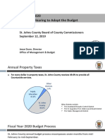St. Johns County fiscal year 2020 budget