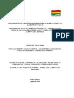 Estado Actual de La Normativa Alimentaria de Bolivia y Su Comparacion Con Las Normas Del Codex Alimentarius