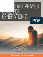 Quick Start Prayer Guide for Generation z
