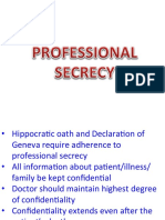 11- Professional Secrecy