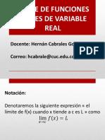 Límite de Funciones Reales de Variable Real