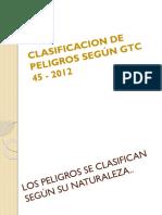 Clasificacion de Peligros Según Gtc 45 - 2012
