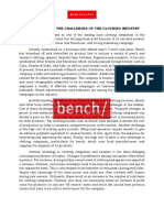Bench Case Study