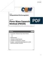 Lecture 19 -- Plane Wave Expansion Method