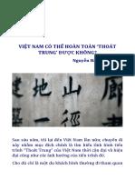 Việt Nam Có Thể Hoàn Toàn 'Thoát Trung' Được Không