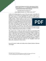 Analisis Pengaruh Ekspor Industri Tekstil Dan Produk Tekstil Tpt Indonesia Ke Senegal 2010 2014 Terhadap Perkembangan Hubungan Bilateral Kedua Negara