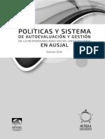 Políticas y Sistemas de Autoevaluación y Gestión de La RSU