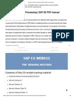 Customer Service Processing _ SAP SD PDF Manual Tutorial
