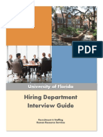 Hiring Dept Interview Guide