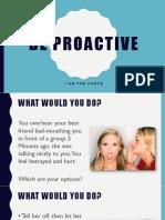 Be Proactive - Teen Version