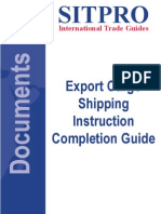 SITPRO Standard Shipping Instruction Completion Guide
